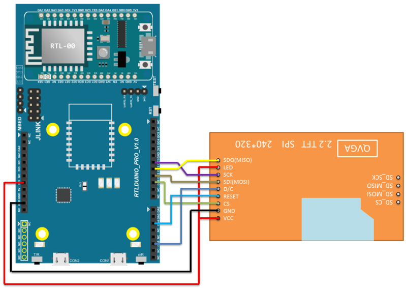 Ameba Arduino   Rtl8195   Rtl8710  Spi  U2013 Print Image And Text On Lcd Screen  U2013 Realtek Iot  Mcu